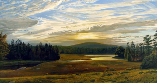 Painting by Arthur Chartow