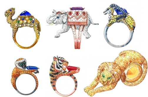 Boucheron Jewelry's Cabinet of Curiosities collection