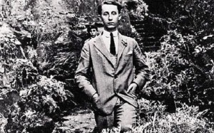 Christian Dior in his garden at Les Rhumbs