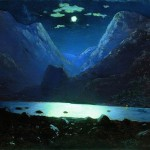Daryal pass. Moonlight Night (painting by Arkhip Kuindzhi