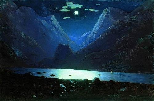 Daryal pass. Moonlight Night (painting by Arkhip Kuindzhi