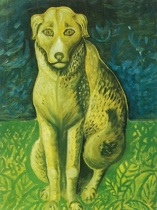 Dog. Painting by Russian artist Ivan Selivanov