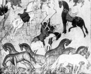 Image of horses east type in the Novgorod icon