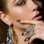 Silver jewelry 'From Siberia with love'. Model Julia Ilina, photographer Dmitry Fedyaev
