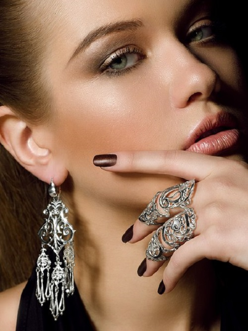 Silver jewelry 'From Siberia with love'. Model Julia Ilina, photographer Dmitry Fedyaev
