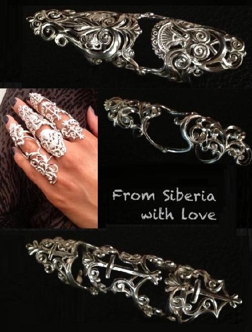 Silver retaining rings. silver 925
