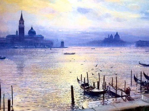 Sunset On The Basin Of StMark's-Venice
