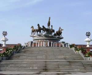 The monument in Ashgabat