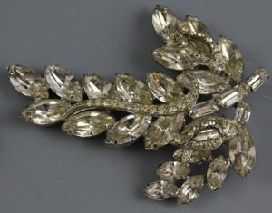 Weiss vintage retro rhinestone brooch