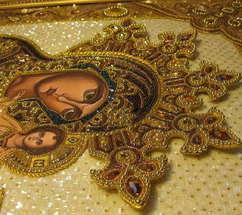 Fragment of icon by Ukrainian artist Angelica Artyomenko