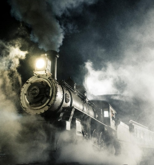 Trains in the film are unique in that they are the real thing.