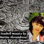 Seashell artworks by Marina Alexandrova