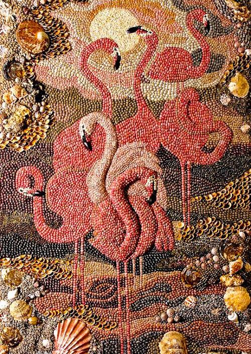 Seashell mosaics by Marina Alexandrova