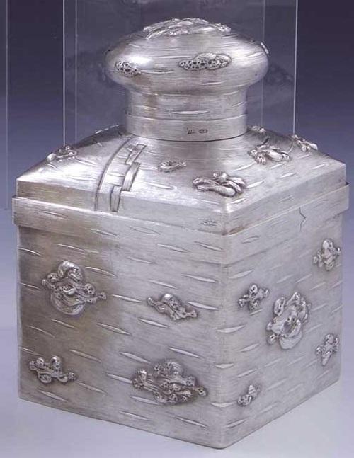 Russian silver trompe loeil