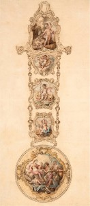 Design for a Chatelaine with Watch