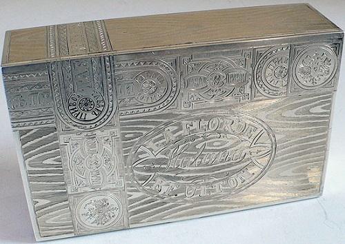 Russian silver trompe loeil art