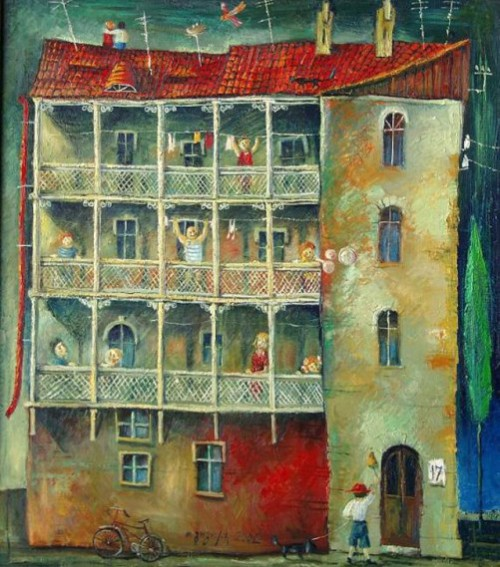 Painting by Tamaz Gogoladze, Georgia