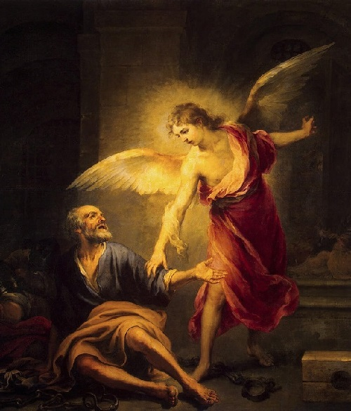 Bartolome Esteban Murillo. Angel Rescues St. Peter from Prison
