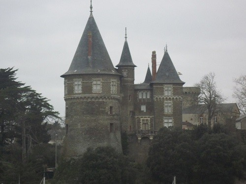 Bluebeard's Castle. Construction of the 19th century. The French Revolution leveled the fortress with the ground, because of the fame of Gilles de Rais. It was restored only in the 19th century