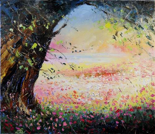Good shadow. Artist Vadim Stolyarov, 2013. Impressionism. Romance genre. Oil on canvas