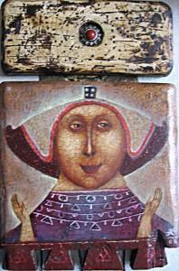 Gothic naive paintings by Pavel Nikolaev