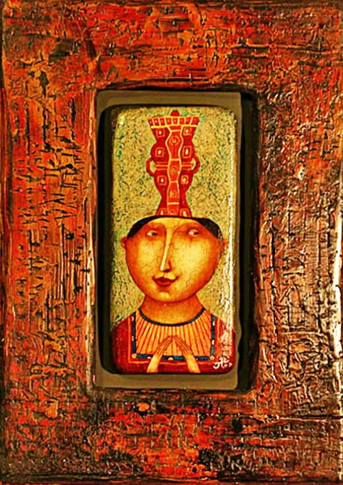 Gothic naive paintings by Russian artist Pavel Nikolaev