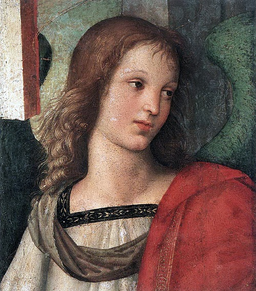 Angels walk among us. Raffaello Sanzio da Urbino (1483-1520). Angel 1500-1501