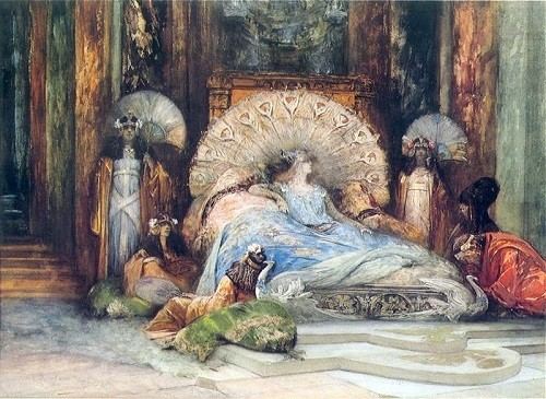 Sarah Bernhardt in Theodora (1902), artist Georges Jules Victor Clairin (1843–1919)