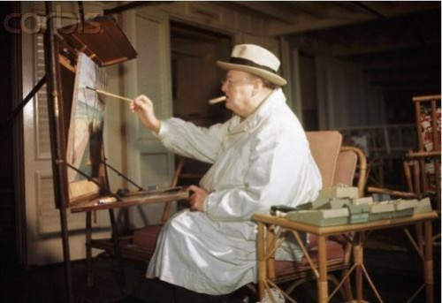 Artist Sir Winston Churchill