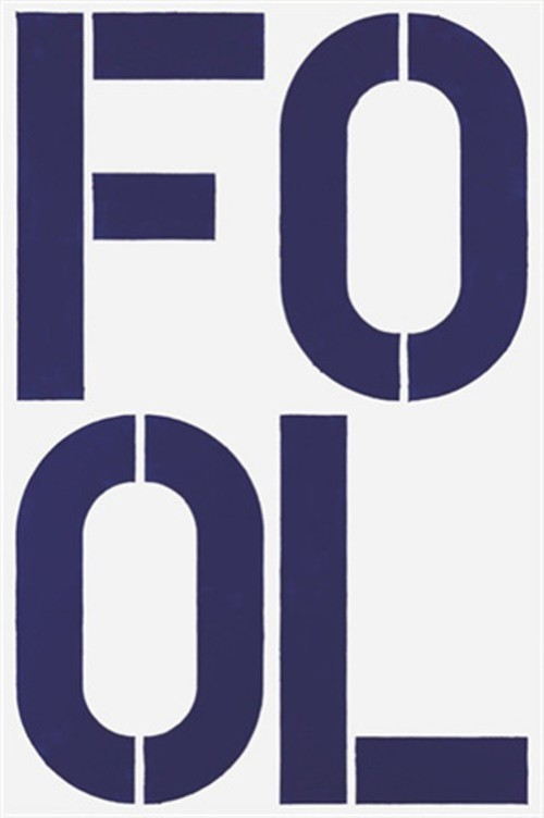 """Blue Fool ,"" Christopher Wool - $ 5 million"