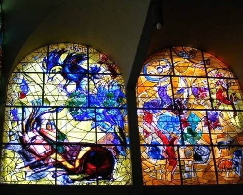 Synagogue Marc Chagall Stained-glass windows