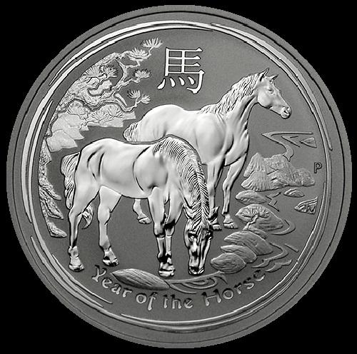 Blue Horse 2014. Perth horse silver coin