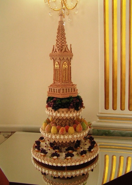 Birthday cake 'Gothic Tower' (the last quarter of the XIX century. 1840).