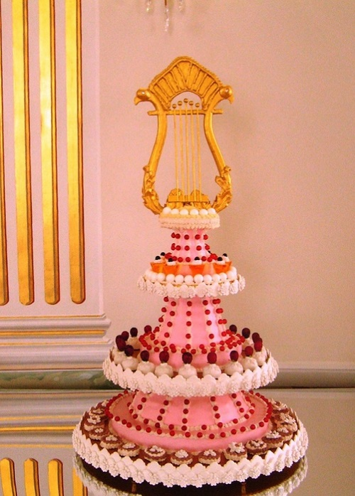 Cake 'Lyre' - (I quarter of the XIX century. era of Empire)