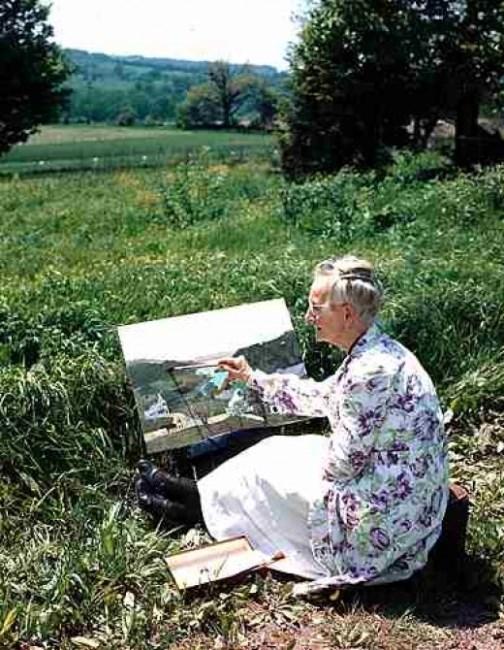 Never too late. American artist Grandma Moses