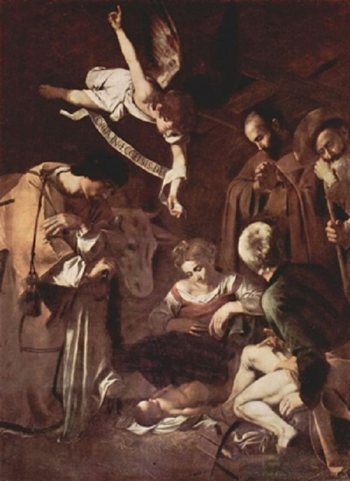 Michelangelo Merisi da Caravaggio. Nativity with Saints Francis and Lawrence. Most expensive stolen artworks. Cost - about $ 20 million