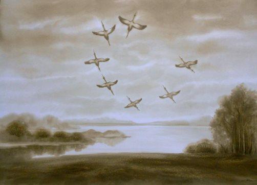 Petroleum paintings by Ludmila Zhizhenko