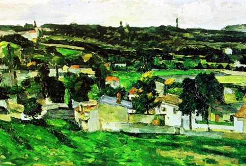 Paul Cezanne, View of Auvers- sur -Oise. Most expensive stolen artworks. Cost - about $ 5 million