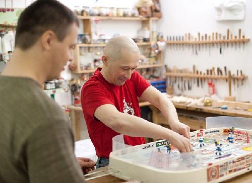 Siberian artists Oleg Antukhov and Sergey Bychkov