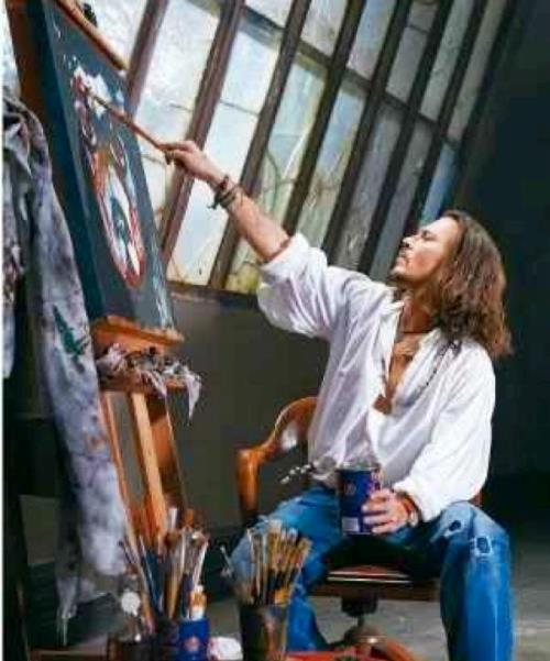 Talented artist Johnny Depp