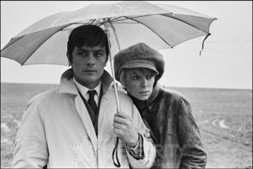 Mireille Darс and Alain Delon