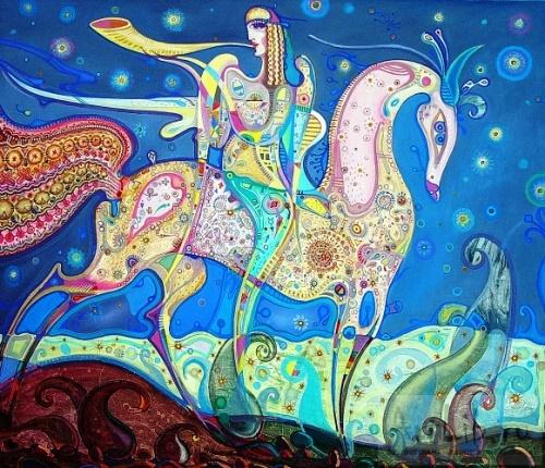Ethno Futuristic artist Yuri Dyrin