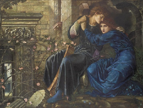 Pre-Raphaelites English phenomenon. Love among the ruins. Sir Edward Coley Burne-Jones (1833 - 1898)