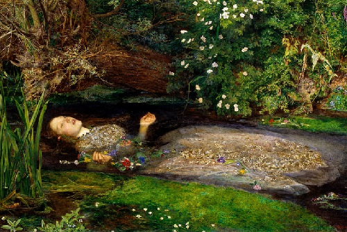 Ophelia. Pre-Raphaelites English phenomenon. John Everett Millais (1829-1896)