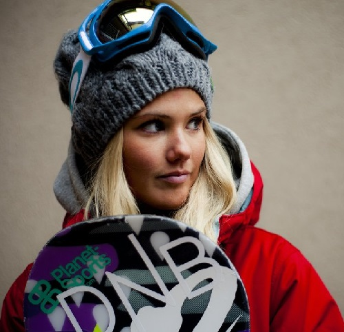 Beautiful snowboarder Silje Norendal
