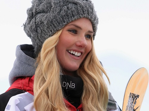 Beautiful snowboarder Silje Norendal