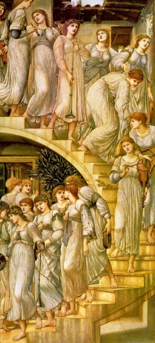 The Golden Stairs, Pre-Raphaelites English phenomenon