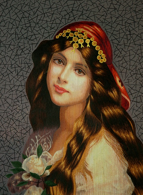 Aroma of youth. Classic paintings embroidery