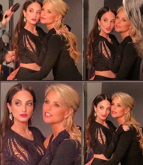 Christie Brinkley with her daughter and 'muse Alexa Ray'. Behind the scenes snapshot on the People Magazine Cover Shoot by Andrew McPherson