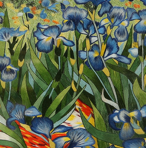 Irises (Classic paintings embroidery)
